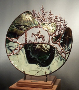 Click for complete gallery of glass and metal sculpture